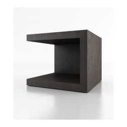 modloft - Ludlow Open Cube Nightstand - Cube in shape. Floor and top shelves. Made of solid hardwood. 20 in. W x 20 in. D x 17 in. H (30 lbs.)Ludlow cube style contemporary nightstand has built in floor and square top. Great for storage and display.