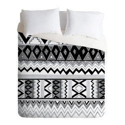 DENY Designs - Kris Tate Wipil 3 Duvet Cover - Turn your basic, boring down comforter into the super stylish focal point of your bedroom. Our Luxe Duvet is made from a heavy-weight luxurious woven polyester with a 50% cotton/50% polyester cream bottom. It also includes a hidden zipper with interior corner ties to secure your comforter. it's comfy, fade-resistant, and custom printed for each and every customer.