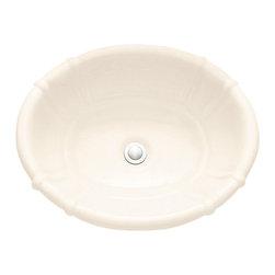 American Standard - Ceramica Decorativa Self-Rimming Drop-in Bathroom Sink in Linen - American Standard 0544.000.222 Ceramica Decorativa Self-Rimming Drop-in Bathroom Sink in Linen.