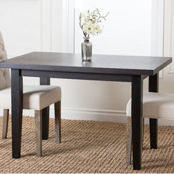 Abbyson Living - Abbyson Living Casablanca Rectangle Espresso Dining Table - Dress up your dining room with this espresso dining table. Its clean lines will suit most contemporary or modern decor, and its rich brown finish adds a warm touch to any room. Add your own chairs to this sturdy hardwood table for a customized look.