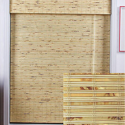 Safe-er-Grip - Petite Rustique Bamboo Roman Window Shade (29 in. x 98 in.) - Stunning natural bamboo construction lends a warm, appealing touch to your home decor. This bamboo is carefully woven to filter light in.