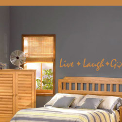 Live Laugh Golf Vinyl Wall Decal go001livelaughv, Matte White, 60 in. - Vinyl Wall Quotes are an awesome way to bring a room to life!