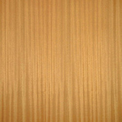 Quartered Ribbon Sapele veneer - Quartered Sapele veneer is a medium pinkish to reddish brown wood with a nice medium consistent grain. It can be a nice alternative to South American Mahogany or when quarter cut it can have a distinct ribbon stripe grain. Available on variety of backers and sizes.