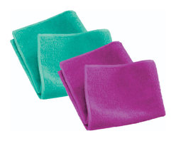 E-Cloth 2 Pack General Purpose Cleaning Cloth - Take advantage of the E-Cloth 2 for 1 special!  Once these are gone  they're gone!Set includes 2 cloths in assorted colors  please allow us to choose a color for you.  Why E-cloth instead of how you've been cleaning?  It is the safest most effective way for you to clean almost everything.  The E-cloth General Purpose Cleaning Cloth is in a league all its own. Unlike cheap microfibers in the market today  E-cloth's unrivaled fiber technology allows it to perform at the highest level  absorbing moisture and removing everything in its path using just water as its cleaning companion. The superior microscopic texturing penetrates and removes dirt  grease  oil  grime and bacteria from all hard surfaces. No chemical residue is left behind - just a thoroughly cleaned  polished surface. (Not for use on electronic screens and delicate lenses.)  Versatile  easier cleaning - excellent on stainless steel  countertops  glass  chrome  granite  marble  tile and wood - throughout the home  in the workplace or outdoors. And E-cloth's fiber function makes cleaning just about everyplace faster and easier. Product Features                        Versatile  easier cleaning - excellent on stainless steel  countertops  glass  chrome  granite  marble  tile and wood. And E-cloth's fiber function makes cleaning faster and easier than normal.            Money-saving cleaning - no paper towels or household chemicals to buy. Saving just one roll of paper towels a week  and $10 a month on chemical cleaners results in a yearly savings of almost $200. E-cloth performance is guaranteed for 300 machine washings.            Healthier cleaning - no harmful chemicals or fumes because E-cloth uses fiber function to clean - not a chemical reaction. E-cloth cleaning is safe for everyone - especially important to allergy and asthma sufferers.