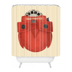 Bobby Berk Home - Owl Master Shower Curtain - Who says bathrooms can't be fun? To get the most bang for your buck, start with an artistic, inventive shower curtain. We've got endless options that will really make your bathroom pop. Heck, your guests may start spending a little extra time in there because of it!