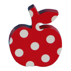 Pakhuis Oost - Apple Dresser Knob, Red - The apple dresser knobs are the decorative touches that add so much to a child's room. Imagine how your child's dresser can be transformed with the addition of these whimsical and beautiful dresser knobs. You can customize any dresser with these apple dresser knob and turn a regular dresser into a fantastic one!