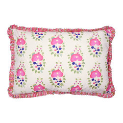 Pink Floral Fringe Pillow - How could you not be cheerful while looking at this sweet pillow? It's pretty as a picture and fresh with fringe. Yes, please!