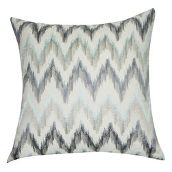 """Loom & Mill - Loom and Mill Chevron Pillow, Blue, 21"""" x 21"""", P0195 - This Loom and Mill Chevron Pillow would make a great addition to a couch or bed."""