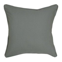 Blazing Needle Designs - Blazing Needles Throw Pillows in Solid Gray (Forest Green) - Color: Forest Green. Great addition to sofas and lounge chairs. 18 in. L x 4 in. W x 18 in. H (1 lb.)