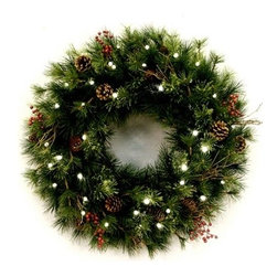 Golden Ash Corldess Lighted Wreath & Garland - UNVEIL NATURE WITH OUR GOLDEN ASH CORDLESS LED WREATH AND GARLAND