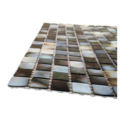 Sample Deep Sea Black Pearl Square Tile - sample-Deep Sea Black Pearl Square Tiles Sample SAMPLE Samples are intended for color comparison purposes, not installation purposes.-Glass Tiles -