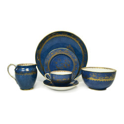 Lavish Shoestring - Consigned 10 Placements Robin Egg Blue Tea Set by Thomas Goode, Vintage English - This is a vintage one-of-a-kind item.