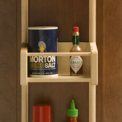 Cabinet Door Pantry Tray Rack - A weekend project of adding a few of these to the insides of your cabinet doors will fix pantry clutter in no time.
