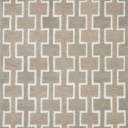 "Loloi Rugs - Loloi Rugs Weston Collection - Beige, 2'-3"" x 7'-6"" - Feast your eyes on this. Hand-tufted in India of 100% wool, the tastefully designed Weston Collection features vibrant colors and bold, graphic patterns that instantly uplift the mood of your room. What's more, each Weston rug is crafted with a combination of colorful cut pile and ivory loops - adding a sense of depth and drama to these amazingly textural rugs."