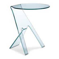 Zuo Modern - Zuo Journey End Table Clear - End Table Clear belongs to Journey Collection by Zuo Modern Simple in shape, and yet chic in overall aesthetic, the Journey is made of bent semi-tempered glass with rubber corner caps. End Table (1)