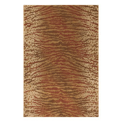 """Karastan - Karastan Carmel 74700-13119 (Palmero Ginger) 2'11"""" x 4'8"""" Rug - Floral motifs, sophisticated graphic patterns and modern damasks take center stage in the Carmel collection. Styled for today's relaxed living these fashion inspired patterns feature color palettes that are decorator friendly and offer the consumer an easy decorating choice."""