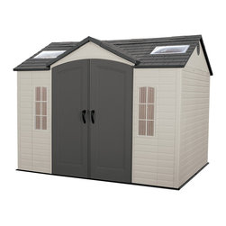 Lifetime - Lifetime Garden Shed - Safely store garden items,ATVs and more in this handsome shed from Lifetime. Give your property a clean and organized look with this storage shed.