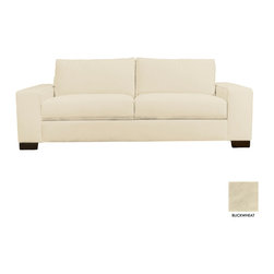 Apt2B - Melrose Wide Arm Sofa, Buckwheat - With stylish wide track arms and a low-rise design, the Melrose Collection will most definitely add a lot to your living room. It's super cozy and made for snuggling.