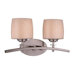 Minka Lavery - Minka Lavery ML 6182 2 Light Bathroom Vanity Light from the Contemporary Bath Ar - Two Light Bathroom Vanity Light from the Contemporary Bath Art CollectionFeatures: