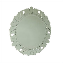 Jessica McClintock Round Venetian Mirror  by  American Drew - This round Venetian style mirror by Jessica McClintock for American Drew adds some sparkle and glamour to a bedroom, hallway or entry way.