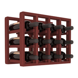 Wine Racks America® - 12 Bottle Counter Top/Pantry Wine Rack in Redwood, Cherry Stain - These counter top wine racks are ideal for any pantry or kitchen setting.  These wine racks are also great for maximizing odd-sized/unused storage space.  They are available in furniture grade Ponderosa Pine, or Premium Redwood along with optional 6 stains and satin finish.  With 1-10 columns available, these racks will accommodate most any space!!