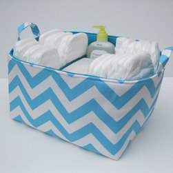 Diaper Caddy Storage Container Organizer Bin Basket by Baffin Bags - How do you plan to organize your diapers and wipes? Isn't this beautiful diaper caddy a great idea?