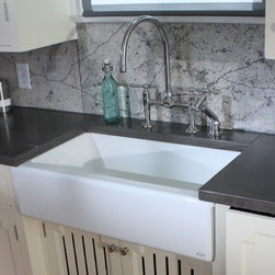 Concrete Countertops - Kelli Kaufer Design on DIY I Hate My Kitchen