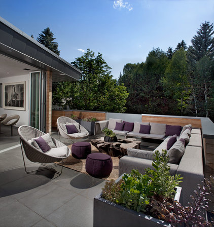 contemporary patio by ROWLAND BROUGHTON ARCHITECTURE &amp; URBAN DESIGN
