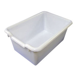 Ecr4kids - Ecr4Kids Scoop-Front Plastic Tote/Storage Bins White Pack Of 10 - A SET OF 10, scoop-front, polypropylene tote bins designed for use with ECR storage cabinets.Heavy-duty, scoop-front, polypropylene tote bins with rounded edges for safety. Fits all ECR storage units and most standard cubbie units that are 12D or more. Available in Red, Blue, Yellow, White, Clear and Green.