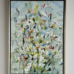 """The Confetti Garden"" Oil Painting -"
