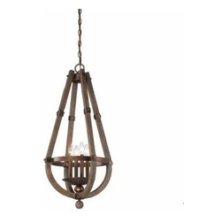 Savoy House - Berwick 4 Light Entry Pendant - Savoy House introduces Berwick , a stunning collection in Distressed Wood with precious metal accents that is on trend without being trendy. The clean lines are simultaneously rustic and modern creating an elegant and relaxed ambiance.