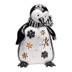 ATD - 4.5 Inch Black and White Penguin Votive Candle Holder with Snowflakes - This gorgeous 4.5 Inch Black and White Penguin Votive Candle Holder with Snowflakes has the finest details and highest quality you will find anywhere! 4.5 Inch Black and White Penguin Votive Candle Holder with Snowflakes is truly remarkable.