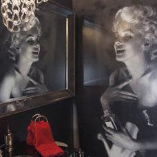 Eclectic  Marilyn Monroe Powder Room