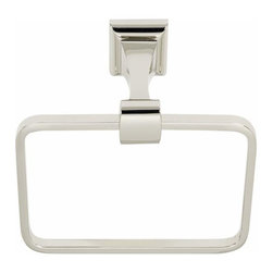 Alno Inc. - Alno Creations Manhattan Towel Ring Polished Nickel A7440-Pn - Alno Creations Manhattan Towel Ring Polished Nickel A7440-Pn