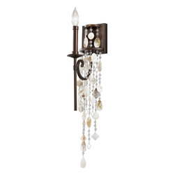 Murray Feiss - Murray Feiss Cascade Traditional Wall Sconce X-ZBTH0751BW - One look at this Murray Feiss Cascade Traditional Wall Sconce and you'll know how it got its name. You can't help but notice the delicate, cascading beads and shells that create a nice contrast to the steel frame in a heritage bronze finish. This magnificent piece is sure to catch the attention of anyone who sees it hanging in your home.