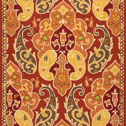 Jaipur Rugs - Floral Pattern Polypropylene Red/Orange Indoor-Outdoor Area Rug ( 2x3 ) - Inspired by the rich history and range of design movements that have defined the architecture of Spain's cultural center, the Barcelona Collection brings a transitional flair to any indoor or outdoor space. Whether the style leans towards fun, boldly-scaled flourishes or understated simplicity, this broad range offers something for every taste. Artfully developed in hand-hooked polypropylene, Barcelona pairs the durability necessary to withstand the elements with the colorful spirit of the Catalonian countryside.