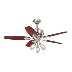 "Vaxcel - 44"" Ceiling Fan - Vaxcel Lighting AireRyder F0008 Morgan 44-in Ceiling Fan This product from Vaxcel Lighting is offered in a satin nickel finish. Requires three 40-watt"