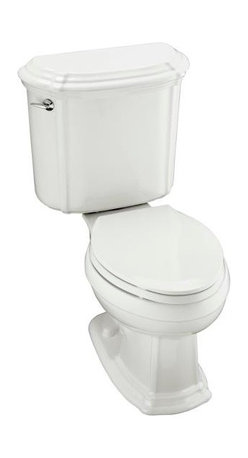 KOHLER - KOHLER K-3591-0 Portrait Elongated Toilet with Left-Hand Trip Lever, Less Seat - KOHLER K-3591-0 Portrait Elongated Toilet with Left-Hand Trip Lever, Less Seat in White