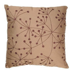 "Rizzy Home - T-2619 18"" Decorative Pillow in Brown (Set of 2) - Distinctive and elegant, these decorative accent pillows are versatile enough to be used in any room of the home. Rich hues and textural accents will allow you to add your signature touch and create your own style. Features: -Color: Brown. -Material: Poly staple. -100% Siliconized polyester fiber filler. -Zippered pillow cover with poly fill insert. -Dry clean only."