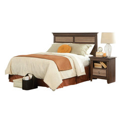 Standard Furniture - Standard Furniture Weatherly 2-Piece Headboard Bedroom Set - Weatherly bedroom has warm appealing character with its textured two-tone finish and versatile transitional styling, plus it has the smart advantage of a space conscious footprint.