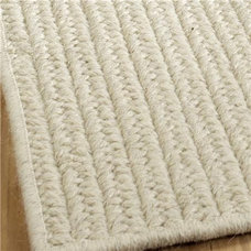 Double Flat Braided Wool Rugs; 3 Colors Available - Shades of Light