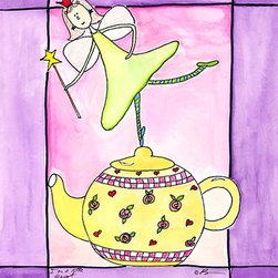 Oh How Cute Kids by Serena Bowman - I Am A Little Teapot, Ready To Hang Canvas Kid's Wall Decor, 16 X 20 - Each kid is unique in his/her own way, so why shouldn't their wall decor be as well! With our extensive selection of canvas wall art for kids, from princesses to spaceships, from cowboys to traveling girls, we'll help you find that perfect piece for your special one.  Or you can fill the entire room with our imaginative art; every canvas is part of a coordinated series, an easy way to provide a complete and unified look for any room.