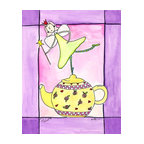 Oh How Cute Kids by Serena Bowman - I Am A Little Teapot, Ready To Hang Canvas Kid's Wall Decor, 24 X 30 - Each kid is unique in his/her own way, so why shouldn't their wall decor be as well! With our extensive selection of canvas wall art for kids, from princesses to spaceships, from cowboys to traveling girls, we'll help you find that perfect piece for your special one.  Or you can fill the entire room with our imaginative art; every canvas is part of a coordinated series, an easy way to provide a complete and unified look for any room.