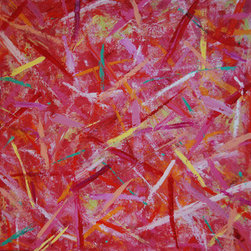 Sprinkles (Original) by Sarah Gentry - This is an oil and wax painting on board.  It was created using many layers of color.  Would look really cute in a playroom, kitchen or girls room!