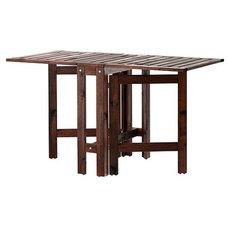 ÄPPLARÖ Gateleg table, brown