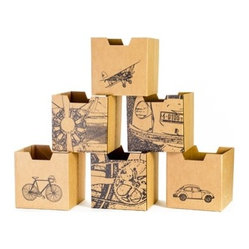 City Print Kids Storage Bins (6 Pack)