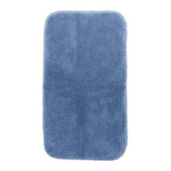 """Garland Rug - Bath Mat: Accent Rug: Finest Luxury Basin Blue 30"""" x 50"""" Bathroom - Shop for Flooring at The Home Depot. Beautify your bathroom and make your feet happy with Finest Luxury Bath Rugs. These rugs will compliment any bathroom decor and are available in a variety of colors and sizes. The super heavyweight solid color plush is a traditional sleek design. Finest Luxury is made with 100% Nylon for superior softness and colorfastness. Proudly made in the USA."""