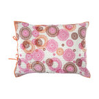 "Rhadi Living - Medallion Pillow Sham 20x26"" Pink/Orange - Give your bedroom an exotic touch by covering your pillow with this handmade cotton sham. The cheerful hand printed design is inspired by medallion block prints, creating a well traveled feel in your room. Machine wash cold separately, delicate cycle, tumble dry low. Do not bleach. Iron at medium setting if necessary."