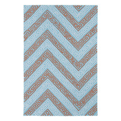 "Kaleen - Kaleen Matira MAT11 (Light Blue) 7'6"" x 9' Rug - Matira is inspired from the absolutely beautiful and breathtaking secluded beaches of Bora Bora. White powdery sand, crystal clear blue waters, and the lush botanical surroundings embrace every aspect of this collection. Each rug is UV protected and handmade with 100% Polypropylene. Complete with our special ""K-Stop Non-Skid Backing"", Matira will be your perfect anchor to a magical getaway."
