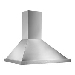 Broan - Broan 30-inch Stainless Steel Traditonal European Chimney Wall Hood - A powerful 500 CFM blower is featured in this stainless steel hood from Broan. This hood has quick-release aluminum filters,a three-speed push control and bright dual halogen lighting with three intensities.